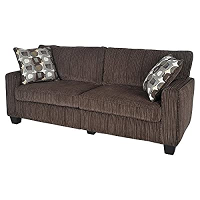"Serta® RTA Palisades Collection 61"" Loveseat in Riverfront Brown, CR43530PB"