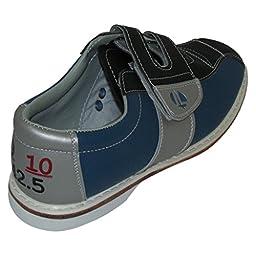 Linds Mens Monarch Rental Bowling Shoes- Velcro (9 1/2 M US, Blue/Silver)