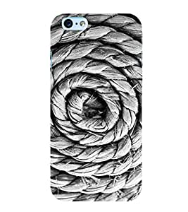 Circular Rope 3D Hard Polycarbonate Designer Back Case Cover for Apple iPhone 6