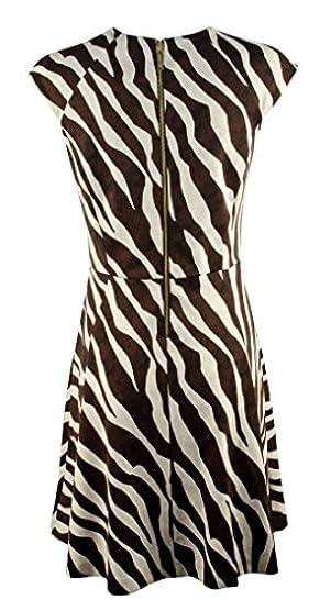 Michael Michael Kors Cop Sleeve A-line Dress, Muti (10)