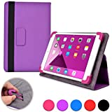 Cooper Cases (TM) Infinite Elite Kobo Arc 7 / 7 HD Tablet Folio Case in Purple (Universal Fit, Built-in Viewing Stand, Elastic Strap Cover Lock)