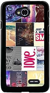 PrintVisa 2D-LGL70-D7964 Pattern Quotes Case Cover for LG L70