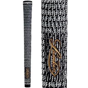"Lamkin Crossline 58 Full-Cord Round Golf Grip (Black, Midsize (+1/16""))"