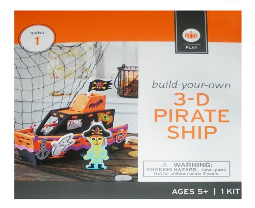 3D Pirate Ship Build-Your-Own Halloween Craft