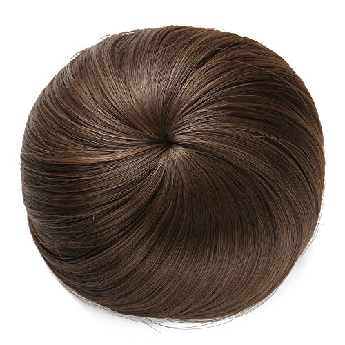 Onedor Synthetic Hair Bun Extension Donut Chignon Hairpiece Wig (8A#-Light Chestnut Brown) (Clip On Hair Bun compare prices)