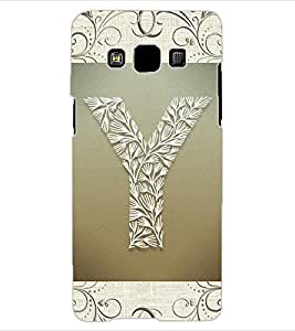 "ColourCraft Alphabet ""Y"" Design Back Case Cover for SAMSUNG GALAXY A3"