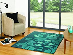 Flair Rugs The Peaks Ashbourne Rug, Teal, 120 x 170 Cm from Flair Rugs