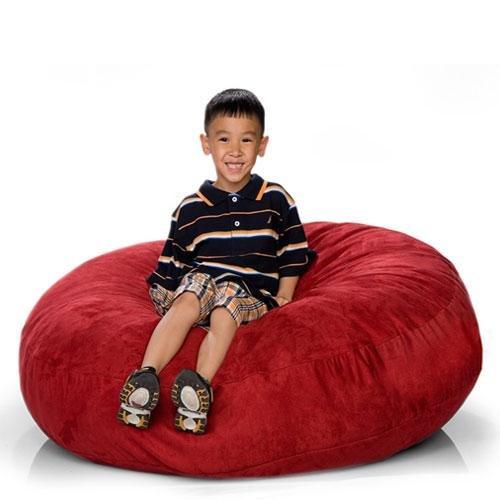 Astounding Jaxx Cocoon 4 Ft Foam Bean Bag Chair Microsuede Dailytribune Chair Design For Home Dailytribuneorg