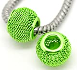 Truly Charming Green Spacer Charm Bead Will Fit Pandora Troll Chamilia Style Bracelets