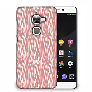 Snoogg White Strips Cream Pattern Designer Protective Phone Back Case Cover For Samsung Galaxy J1