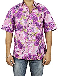 Indian Beach Wear Dresses Cotton Printed Shirt Comfortable Airy Fashion Accessory For Men