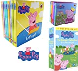 Lauren Holowaty Peppa Pig 8 Books Collection With Peppa Pig 12 DVD Box Set and Peppa Pig Fairy Tale Little Library