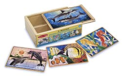 Melissa & Doug Deluxe Sea Life in a Box Jigsaw Puzzles