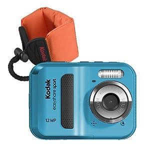 Kodak EasyShare Sport C123 12 MP Waterproof Digital Camera (Blue Bundle with Orange Float Strap)