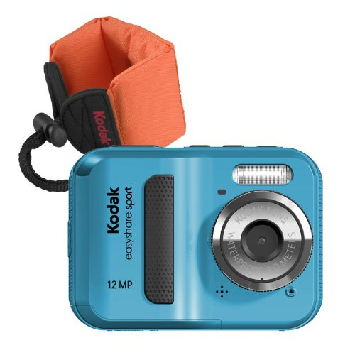 Kodak C123 Sport (Blue Bundle with Orange Float Strap)