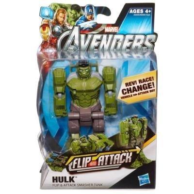 Marvel Transformers Avengers Hulk 13 cm Flip & Attack Figurine günstig bestellen