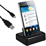 mumbi USB Dock Samsung Galaxy S2 i9100 / Galaxy S2 Plus i9105P Dockingstation / Ladestation + USB Datenkabel