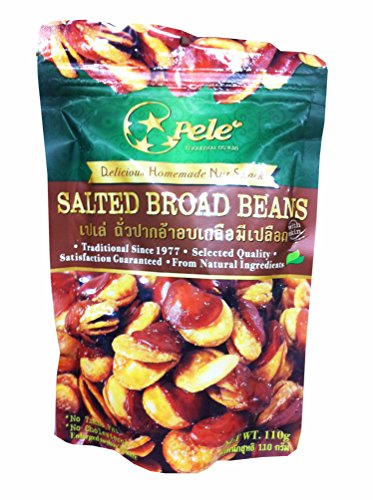 3 Packs of Salted Broad Beans, Deliicious Homemade Nut Snack From Pele Brand, Selected Quality From Natural Ingredients. (No Trans Fat, No Cholesterol) (110g/ Pack) (White Hot Red Hot Jelly Beans compare prices)