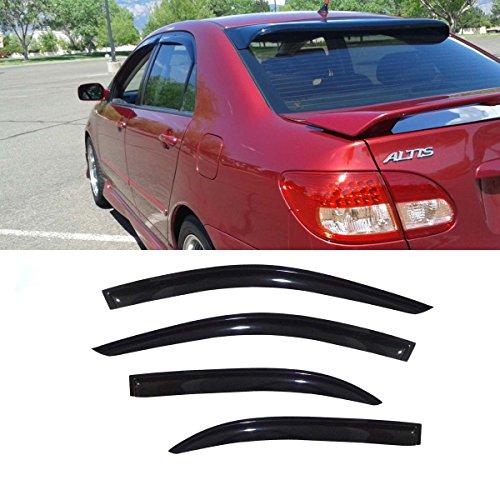 Gevog 4pcs Sun/Rain Guard Window Deflectors Fit 03-08 Corolla Vent Shade Window Visors (2007 Toyota Corolla Vent Visors compare prices)