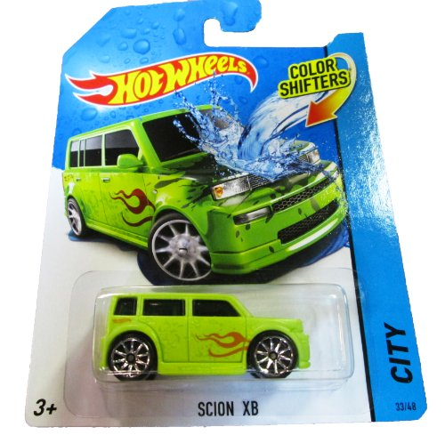Hot Wheels - 2014 Color Shifters - City 33/48 - Scion XB (green) - 1