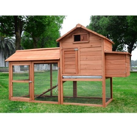 Pawhut Deluxe Backyard Chicken Coop / Hen House w/ Outdoor Run (Chicken House Kit compare prices)
