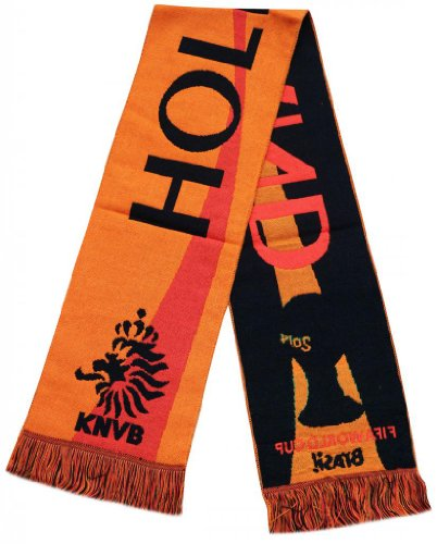 Netherland Holland 2014 Worldcup Football Jacquard Scarf - Multicolour (Size: One Size) at Amazon.com
