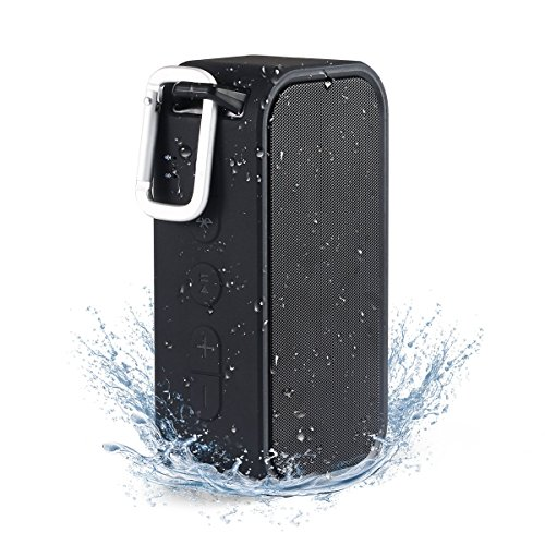 iCode-Sports-Portable-Bluetooth-Speaker-Waterproof-Bluetooth-Speaker-IPX5-Outdoor-Speaker-with-23W-Dual-Stereo-Bass-Radiator-BLACK