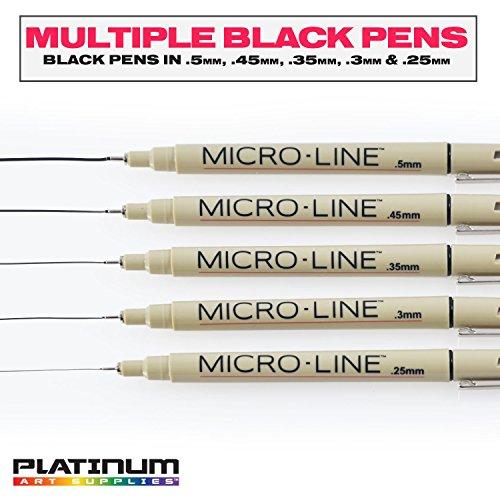 Platinum-Art-Supplies-Micro-Line-Ultra-Fine-Point-Ink-Pens-Set-Of-16
