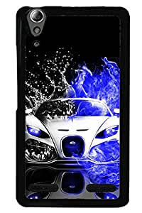 Awwsme Back Metal Print With Hard Plastic phone cover for Lenovo A6000 Plus