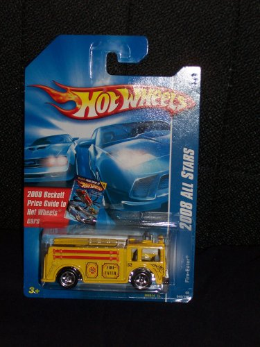 Hot Wheels 2008 048 48 Yellow Variant Fire Eater on Beckett Price Guide Card - 1