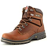 Lee Fog Mens Genuine Leather High Anklet Brown Genuine Leather Casual Boots UK 6
