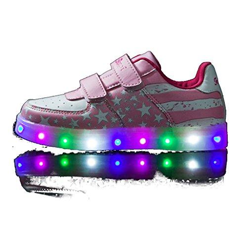 DoGeek-Zapatos-Led-Nias-Deortivos-Para-7-Color-USB-Carga-LED-Luz-Glow-USB-Flashing-Zapatillas-nio-Elegir-1-tamao-ms-grande