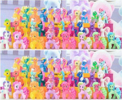 "Lot of 20 PCS My Little Pony 2"" Figures Random Styles Collect (Buy Reward: 1pcs Littlest Pet Shop Bird Rare Figure)"