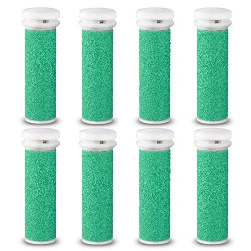 Testine rotanti di ricambio E-cron ® per levacalli Micro-Pedi Emjoi ,duro ruvido, 4 ricarica.