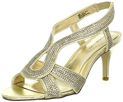 Bandolino Women's Kierson Sandal,Gold/Gold,7.5 M US