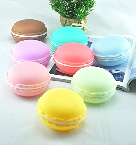 BeautyMood 8pcs Colorful Mini Macaron Shape Storage Box Candy Jewelry Organizer Pill Case Container Decorative Jewelry Box