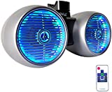 """Pyle PLMRWB652LES 400W Hydra Wakeboard 6.5"""" Speakers, Water Resistant, Built-in LED Lights, Set of 1"""
