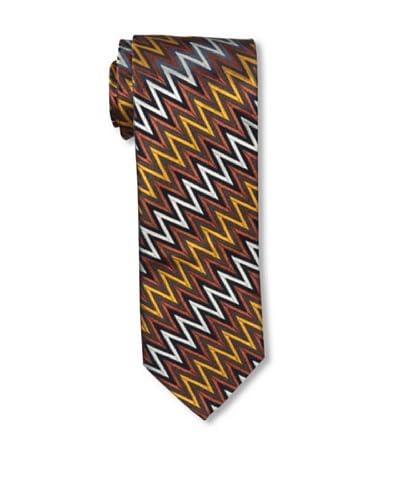 Missoni Men's Big Zig Zag Tie, Rust