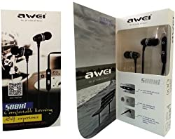 AWEI S88Hi High Bass & Best Sound In-Ear Earphone/Headphone/Headset With Mic For Apple, Samsung, Sony & HTC etc Phones.And Tablets