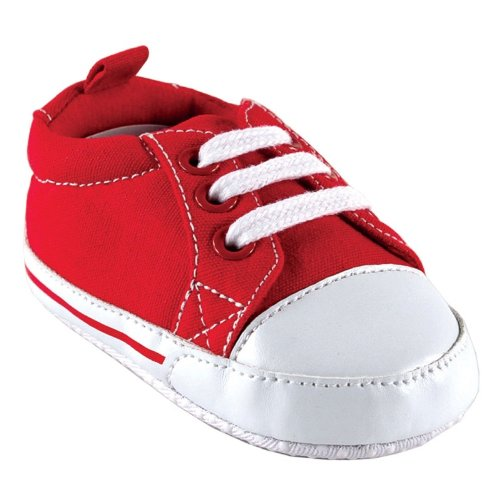 Luvable Friends Basic Canvas Sneaker, Red, 12-18 months