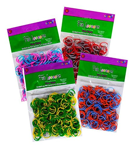 Just For Laughs Fun Loops Brand 2 tone Loom Bands 1200 Piece