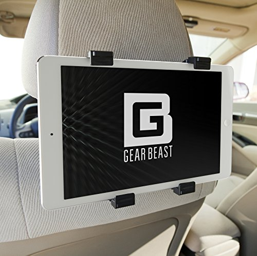 Car Back Seat Headrest Mount Holder for iPad Pro 12.9 and 9.7, iPad Air, iPad Mini, Samsung Galaxy Tab, Google Pixel C, Sony Xperia Z4, Z3, Nexus 9, Microsoft Surface, Nabi and Other 7