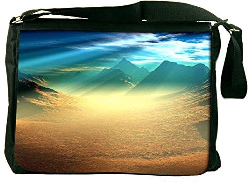 Snoogg Snoogg New World Sunshine Computer Padded Compartment Carrying Case Laptop Notebook Shoulder Messenger Bag (Orange)