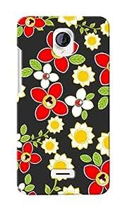 CimaCase Floral Designer 3D Printed Case Cover For Micromax Unite 2 A106