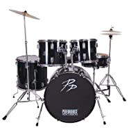 Performance Percussion PP250BLK 5 Piece Drum Kit - Black by Performance Percussion