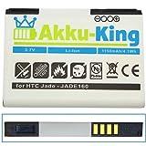 Akku-King Li-Ion Battery for HTC Touch 3G / HTC Jade / O2 XDA Guide slim - replaces JADE160 35H00118-00M BA S330 - 1150mAh