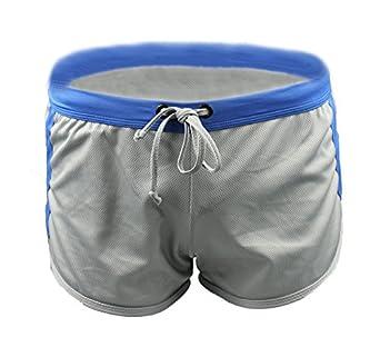 Demarkt® Maillot de bain/ Boxer Trunks Shorts/ Pantalon Court de Sport/ Short de bain pour Hommes - Gris - Taille S/M/L (S)