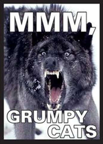 Legion Supplies ART034 Dp Wolf mmm, Grumpy Cats Count 50 - 1