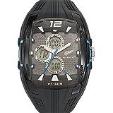 All Blacks - 680051 - Montre Homme - Quartz Analogique - Digital - Cadran Gris - Bracelet Plastique Noir