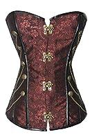 Dear-lover Women's Steampunk Boned Corset with Chain Stud Detail